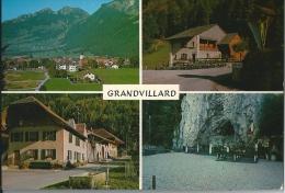 Grandvillard, 4 Vues - Maison Du Banneret, Grotte Et Cascade - FR Fribourg