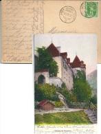 AVRY DEVANT PONT, Oblitération Sur Carte Postale Château De Gruyères - Suisse