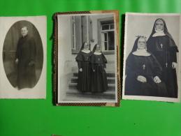 Photo De Religieux A Identifier-soeur Anthime -soeur Pauline -abbe Schaffner Scherwiller - Personnes Anonymes
