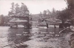 Wisconsin Dells Sugar Bowl &amp  Grotto Rock Real Photo RPPC