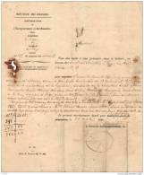 BELGIQUE, MINISTERE DES FINANCES, ADMINISTRATION De L´ ENREGISTREMENT Et Des DOMAINES, LIEGE Octobre 1860. (682_JNL41) - Documents Historiques