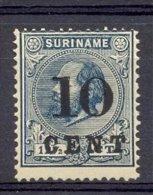 Mdgx029 HULPUITGIFTE KONING WILLEM III KONINGHUIS ROYALTY ** OPDRUK OVERPRINT ** SURINAME 1898 ONG/MH * VERY FINE * - Surinam ... - 1975