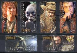 New Zealand 2012 Hobbit - Middle Earth - Tolkien Set Of 6 MNH - Nieuw-Zeeland