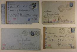 18132 Palermo, Roma, Varese, Salerno Vers Bruxelles Censure Verificato 1942 1941 4 Lettres - 1900-44 Victor Emmanuel III
