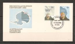 FILATELIA POLAR - TERRITORIOS ANTÁRTICOS AUSTRALIANOS 1982 - Yvert #SPD53/54 (First Day Cover) - Expediciones Antárticas