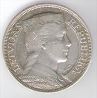 LETTONIA 5 LATI 1929 AG - Letonia