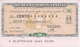 M345 - BANCO DI NAPOLI - [10] Assegni E Miniassegni