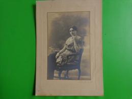 Photo  Dame- A Identifier-studio Retlinger Paris Numerote 26839 - Personnes Anonymes
