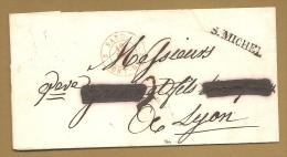 BELLE LETTRE - S. MICHEL + Cachet Rouge SARD. 12 DEC 1840 - SARDAIGNE - Poststempel (Briefe)