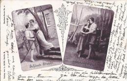 7204 - Gruss Aus... Schönste Stunde Bester Fang  En 1899 (Etat Moyen) - Souvenir De...