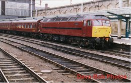 Railway Photo BR Class 47 47854 CARLISLE West Coast Livery Diesel Loco Station - Trains