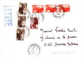 LSI 2177+2180x3+2181x3 T Sauveur La Pommeraye Dernier Jour Du Bureau Donville Barres  De Tri - 1961-....