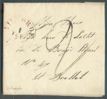 LAC De VILVORDE, Càd Rouge Du 1 Février 1838 Vers Bruxelles. - 8840 - 1830-1849 (Belgique Indépendante)
