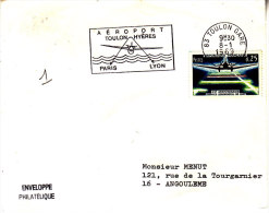PNU 1418 Aéroport Toulon-Hèyres Rabat Ouvert Angoulême - Marcophilie (Lettres)
