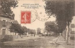 93 AULNAY SOUS BOIS 1916  Avenue Du Chemin De Fer Et Rue Du Château - Aulnay Sous Bois