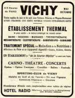 Publicité émanant De La Revue L´Illustration Des Années 1920:  VICHY établissement Thermal. - Advertising