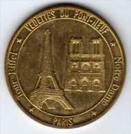 Médailles Et Patrimoine 2008 : Tour Eiffel & Notre Dame, Paris - Touristiques