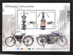 CANADA 2013, #2646,  MOTOCYCLES    SS - Blocs-feuillets