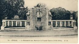 CP, 88, Epinal, Le Monument Aux Morts De La Grande Guerre (1914-1918), Vierge - Epinal