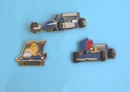 Lot 3 Pin´s  Formule 1 , Formula One, LIGIER GITANES, WILLIAMS RENAULT, RENAULT ELF - F1