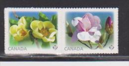 CANADA 2013,  Magnolia  Pair  Stamp From Booklet - Carnets
