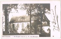ERTVELDE (GENT-ZELZATE). - FOTOKAART (!) De Kapel Van O.L.V. Stoepe (1904) - Evergem