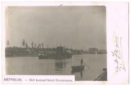 """ERTVELDE (GENT-ZELZATE). - FOTOKAART (!) """"Het Kanaal Gent-Terneuzen"""" (1904) - Evergem"""