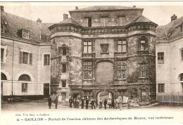 Gaillon .Portail De L Ancien Chateau Des Archeveques De Rouen - France