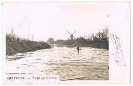 """MOLEN / MOULIN RIEME - ERTVELDE (GENT-ZELZATE). - FOTOKAART(!) """"Zicht Op Rieme"""" (1904) - Evergem"""
