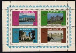 BARDSEY 1980, Castles, MS, MNH - Cinderellas