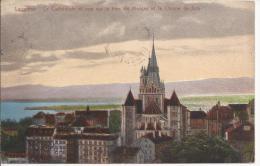 7214 - Lausanne La Cathédrale Et Vue Sur La Baie De Morges - VD Vaud