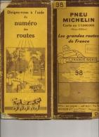 Carte Routière Michelin N°98 France-Nord - Cartes Routières
