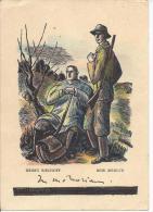 7238 - Chasseurs Au Repos Par Henry Bischoff Bois (réduit) Format 10X15 - Chasse