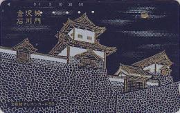 Télécarte Japon En LAQUE & OR - Paysage Religion Pagode - LACK & GOLD Japan Phonecard - 54 - Landscapes