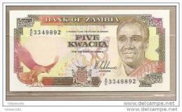 Zambia - Banconota Non Circolata Da 5 Kwacha - Zambie