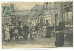CPA 1907 St Valérien Un Jour De Marché N°7 édition Mollereau  Très Belle Animation - Saint Valerien