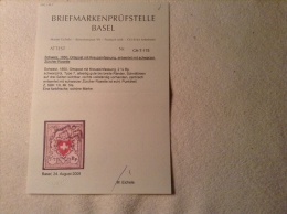 Schweiz, 1850, Ortspost Mit Kreuzeinfassung In Zürich Gestempelt, Winz. Punkthell Sonst Tadellos. SBK 13 I, FA Eichele - 1843-1852 Timbres Cantonaux Et  Fédéraux