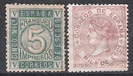 01792 España Edifil 93 * /96 (*)Cat. Eur. 85,- - Neufs