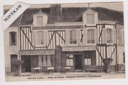 """Cpa """" Briare ( Loiret) - Hotel De Paris -Raphael Dupont,Propriétaire ( Biere Du Fort-Carré )Café Restaurant Mr Poupeney - Briare"""