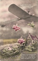 L'aéroplane Du Bonheur - Livraison Moderne En Avion  En Choux Et Roses - Les Jours De Permission Se Sont Vite ... - Humour