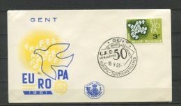 Belgium  1961  First Day  Cover Special Cancel EUROPA - FDC