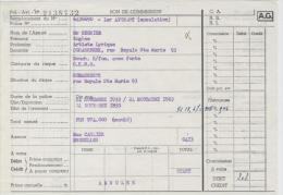 AG Bon De Commission Annulation Assurance Eugène Regnier Artiste Lyrique Schaerbeek 1955 - Banque & Assurance