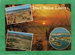 Port-Saint-Louis-du-Rhône Vue Aérienne Plage Port Coucher De Soleil - Saint-Louis-du-Rhône