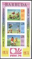 BARBUDA - IMPERF / WEST GERMANY / FOOTBALL SOCCER VOETBAL FUSSBALL FUTBOL - 1974 - Coppa Del Mondo