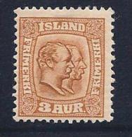 Iceland, Scott # 72 Mint Hinged  2 Kings, 1907 - Ongebruikt