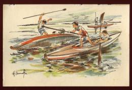 cpa  de Pologne Varsovie Canoe Kayak  �diteur � Warszawa Wydawnictwo Organizacji Harcerzy    CAR9