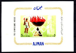 Ajman / Adschman: ´Olympische Spiele 1968 - Mexico-City´ / ´Olympic Games´, Mi. BL 16 ** - Sommer 1968: Mexico