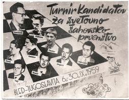 CHESS, ECHECS, YUGOSLAVIA INTERNATIONAL TOURNAMENT, 1959, PHOTO - Schaken