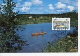 Aland-1991-Canoë-Tourisme-carte Maximum - Kano