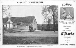 63 - Coupe Gordon-Bennet -1905 - Virage De Bourg-Lastic- édit; Journal De L´Auto - Cliché Blot (voir Scan Recto-verso) - Otros Municipios